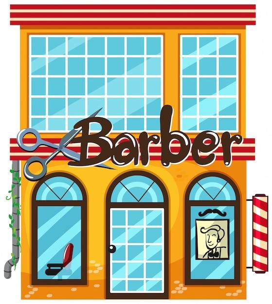 Barbearia, branco, fundo Vetor grátis