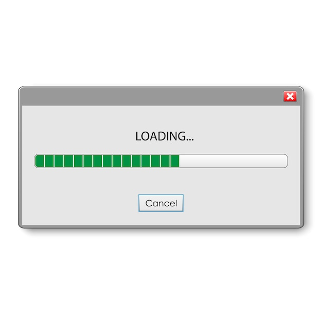 Barra de carregamento para design de interface do usuário e ux. Vetor Premium