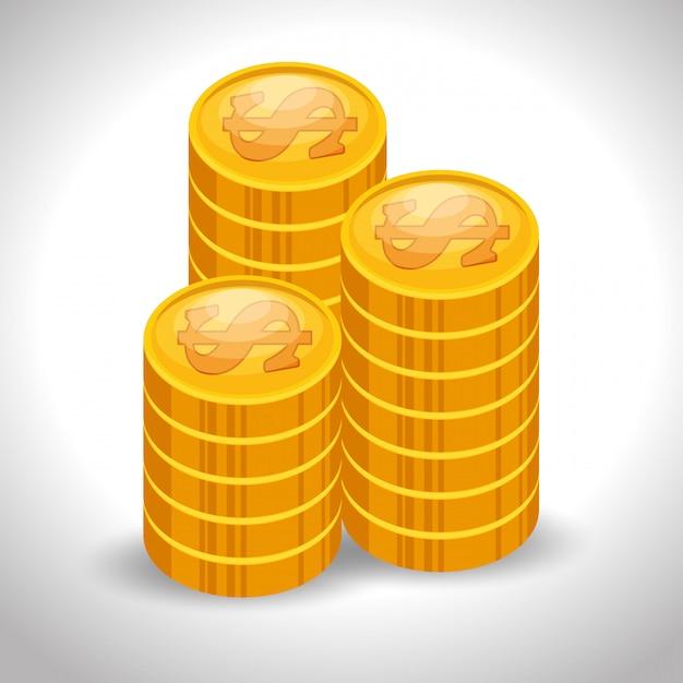 Barra de dinheiro dinheiro Vetor grátis