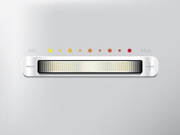 Barra deslizante equalizador branco em fundo cinza Vetor Premium
