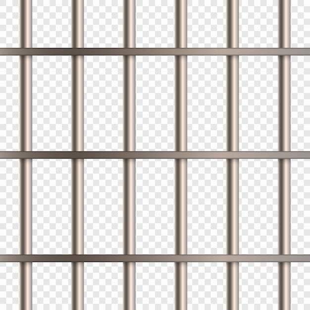 Barras de cela de prisão Vetor Premium