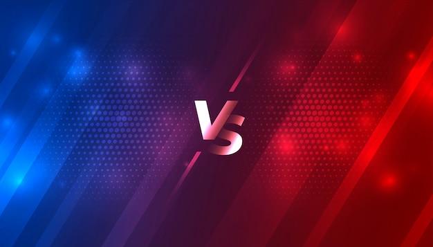 Batalha contra vs fundo para jogo de esportes Vetor grátis