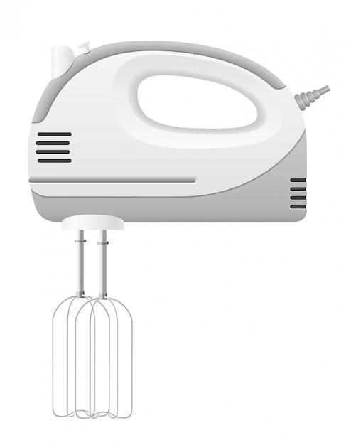Batedeira de cozinha. Vetor Premium