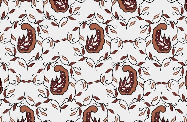 Batik motif indonésio, desenhos especiais que são padronizados Vetor Premium