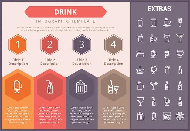 Beba modelo infográfico, elementos e ícones Vetor Premium