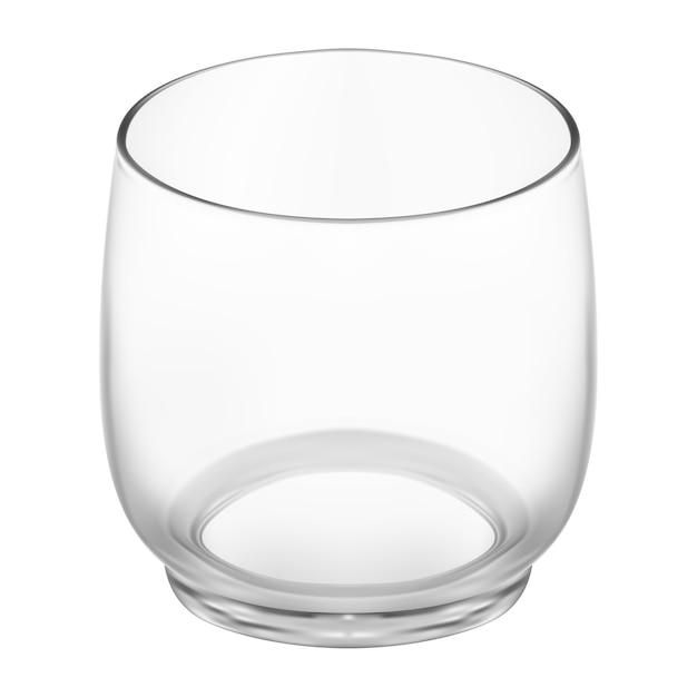 Beba vetor realista de vidro. coquetel de bar, água, caneca de gim. ilustração transparente brilhante do copo de bebida de álcool. cálice de whisky de cristal, conhaque ou conhaque. vidraria transparente Vetor Premium