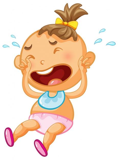 Bebê Menina Chorar Branca Fundo Baixar Vetores Grátis
