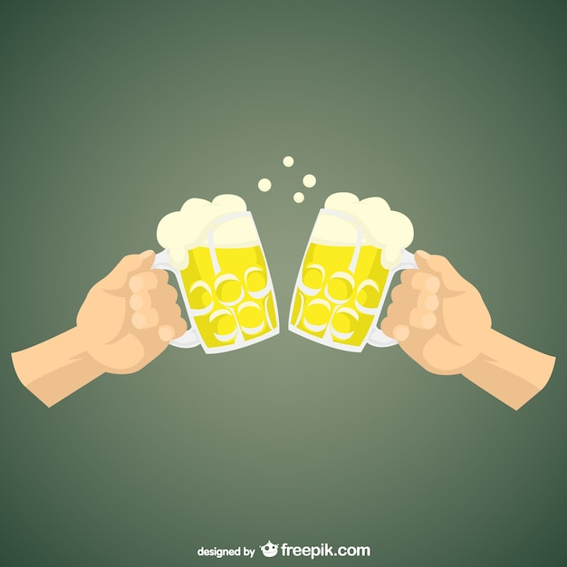 beber cerveja dos desenhos animados baixar vetores grátis