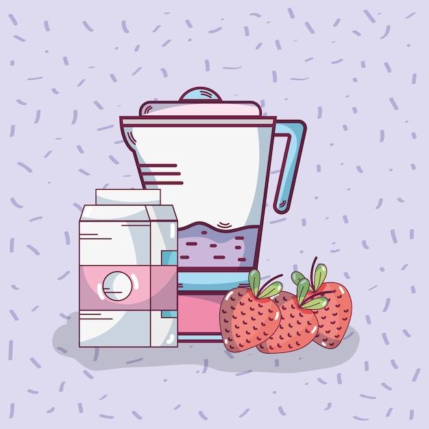 Bebida smoothie de frutas Vetor Premium