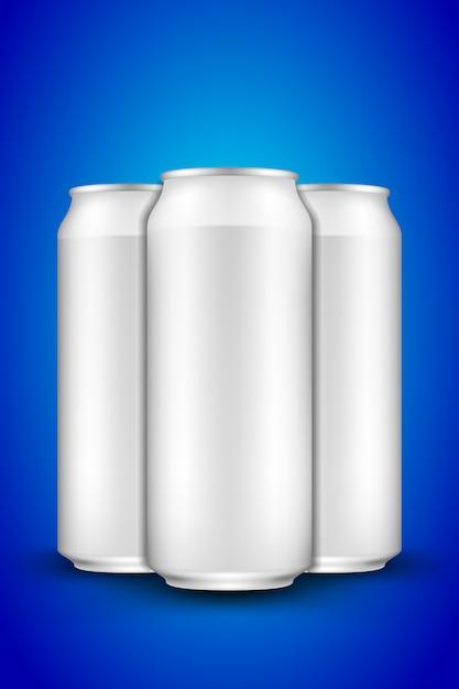 Beer can long Vetor Premium