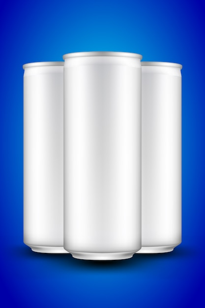 Beer can slim long Vetor Premium