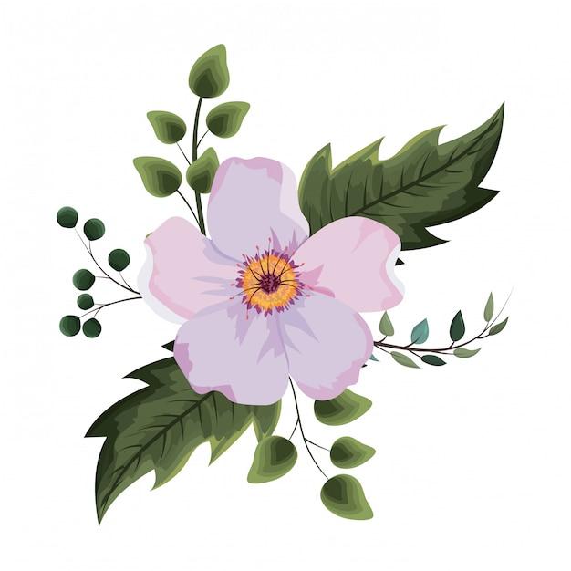 Bela flor desenho Vetor Premium