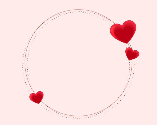 Bela moldura de corações para o dia dos namorados Vetor grátis