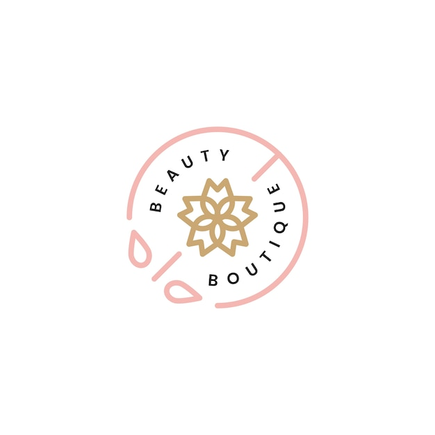 Beleza, boutique, logotipo, desenho, ilustração Vetor grátis