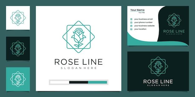Beleza luxuosa de flores elegantes minimalistas, moda, cuidados com a pele, cosméticos com cartão de visita. Vetor Premium