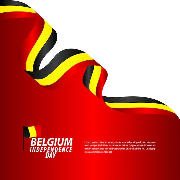 Bélgica independence day celebration vector modelo design ilustração Vetor Premium