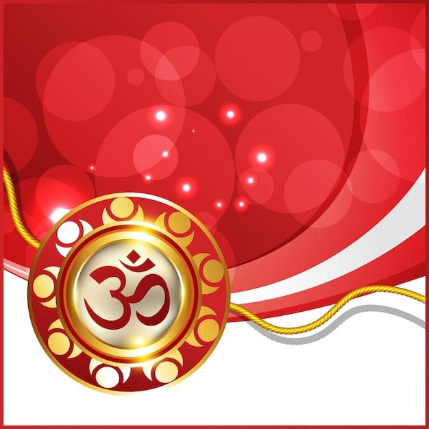 Belo hindu festival rakhi background Vetor grátis