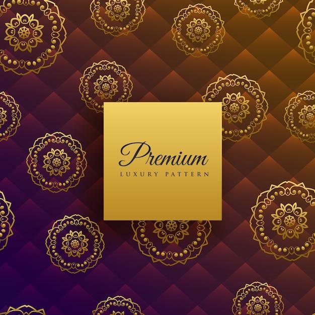 Belo luxo mandala decoração de fundo Vetor grátis