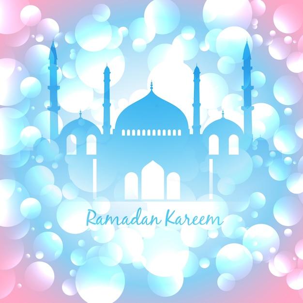Belo vetor colorido ramadan, fundo islâmico Vetor grátis