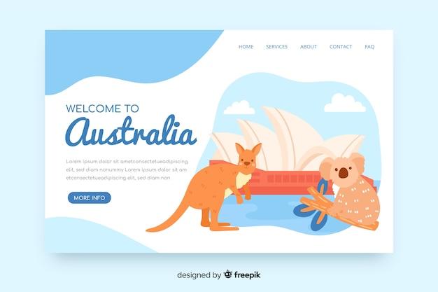 Bem-vindo à página de destino da austrália Vetor grátis