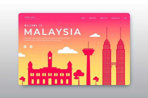 Bem-vindo à página de destino da malásia Vetor grátis