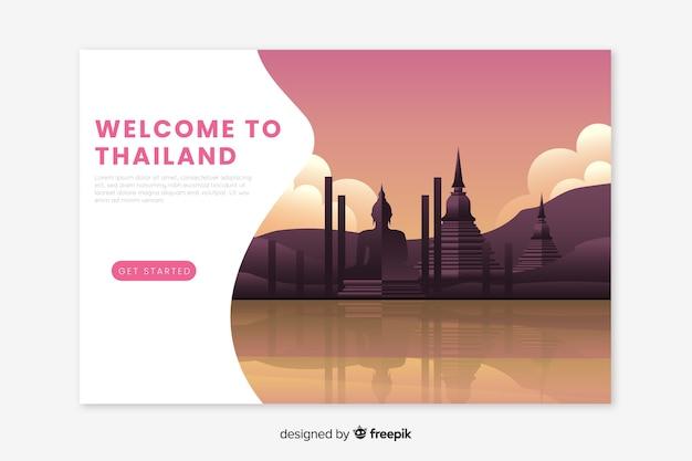 Bem-vindo à página de destino da tailândia Vetor grátis