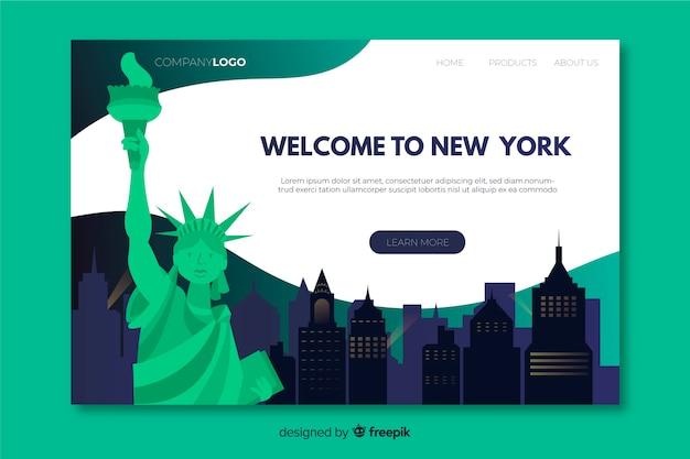 Bem-vindo à página de destino de nova york Vetor grátis