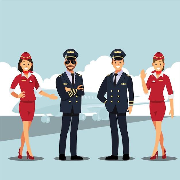 Bem-vindo a viajar de avião Vetor Premium