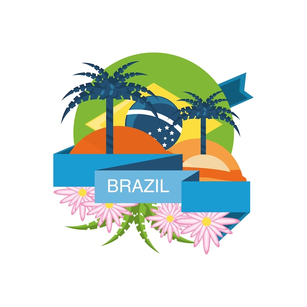 Bem-vindo ao projeto do brasil Vetor Premium
