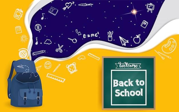 Bem vindo de volta à escola Vetor Premium