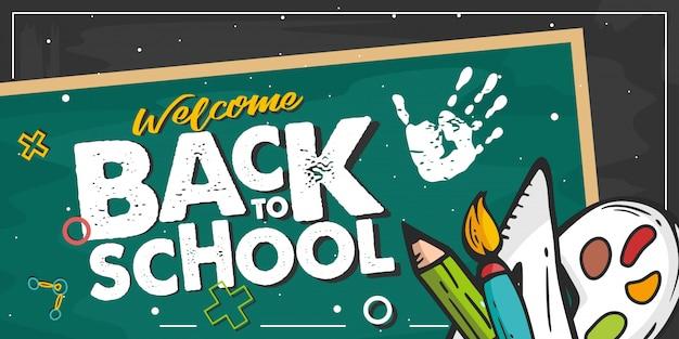 Bem-vindo de volta ao conselho escolar Vetor Premium