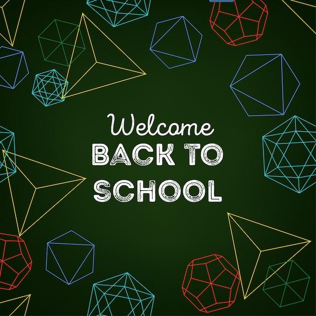 Bem-vindo de volta ao fundo da escola Vetor Premium