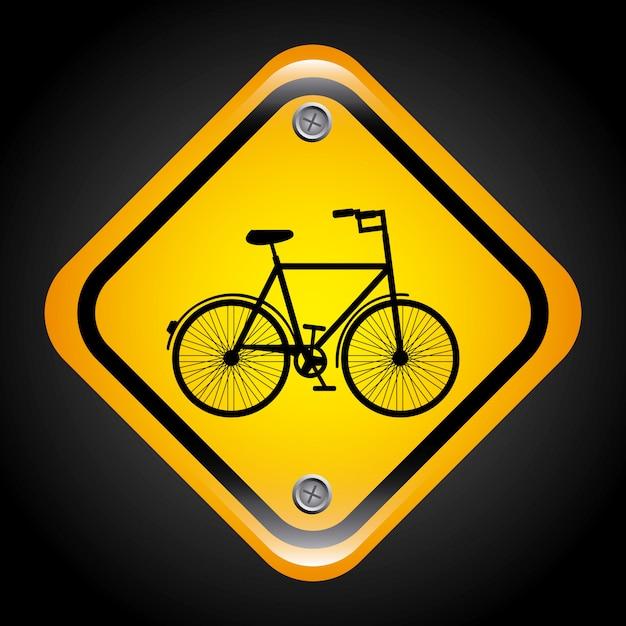 Bicicleta, design Vetor grátis
