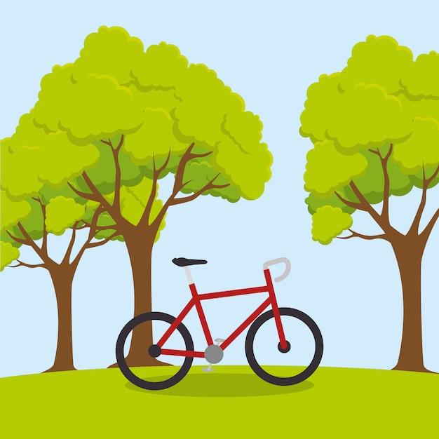 Bicicleta esporte bem-estar estilo de vida ilustração Vetor grátis