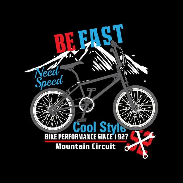 Bicicleta legal estilo slogan impressão vector Vetor Premium