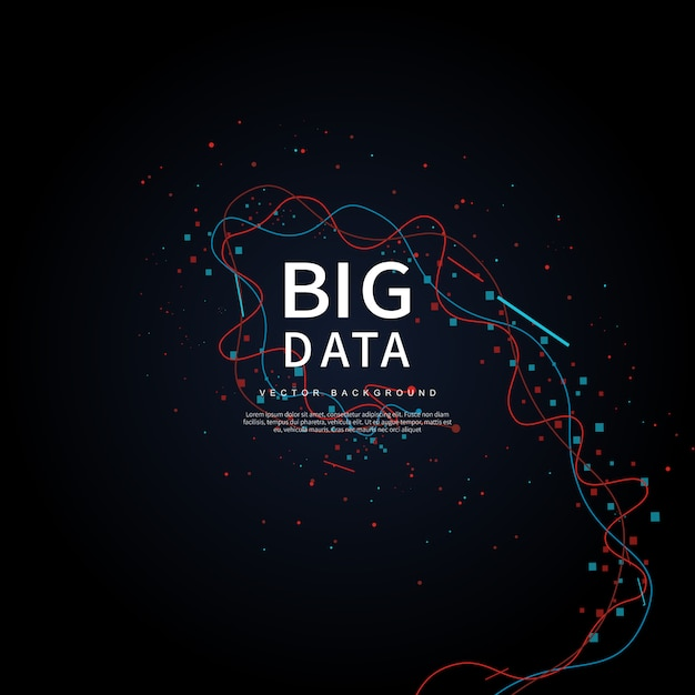 Big data de futuras tecnologias Vetor Premium