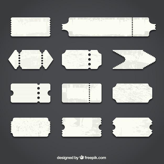 Bilhetes em branco Vetor grátis