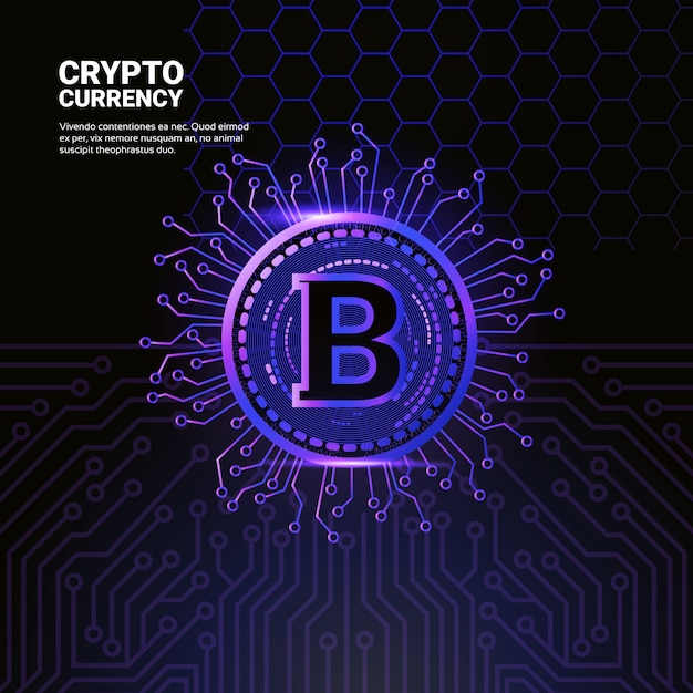 Bitcoin icon Vetor Premium