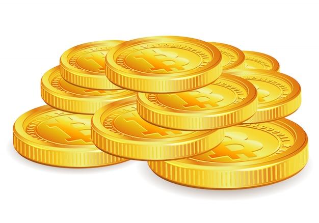 Bitcoins Vetor Premium