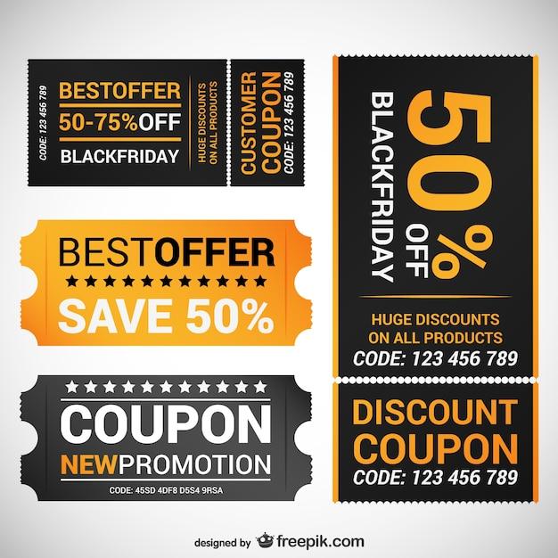 Black friday oferecer cupons Vetor Premium