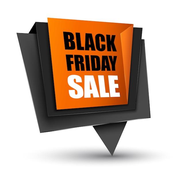 Black friday tag de vendas. Vetor Premium