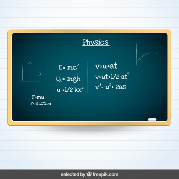 Blackboard com a física assunto Vetor grátis