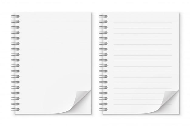 Bloco de anotações Vetor Premium