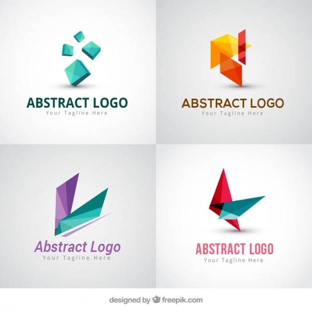Bloco de quatro logotipos abstratos modernos baixar for Best modern logos 2016