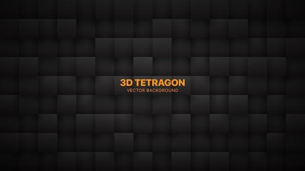 Blocos quadrados cinza escuro abstrato Vetor Premium