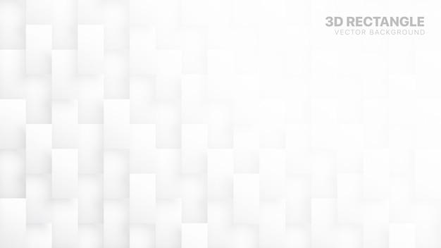 Blocos retangulares 3d tecnologia abstrato branco Vetor Premium