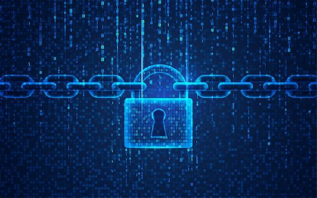 Bloqueio cibernético Vetor Premium