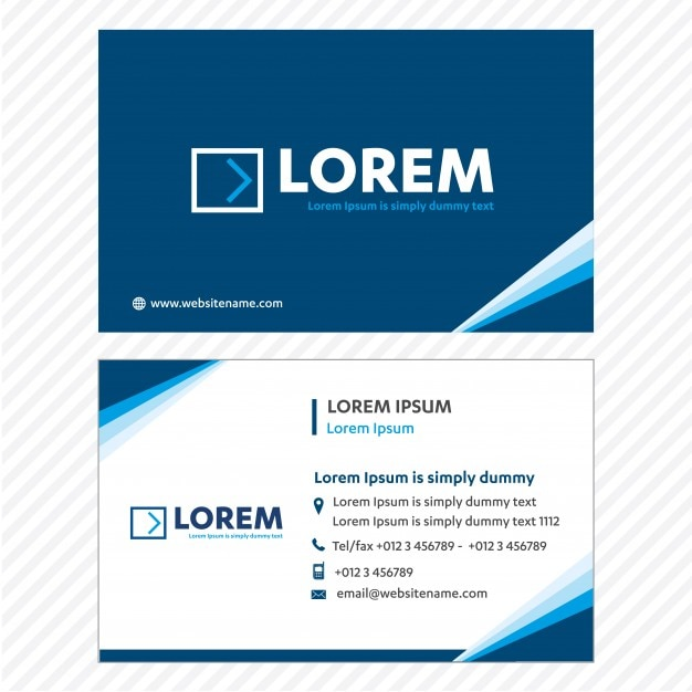 Blue business card template design vector grtis baixar vetores blue business card template design vector grtis vetor premium reheart Gallery