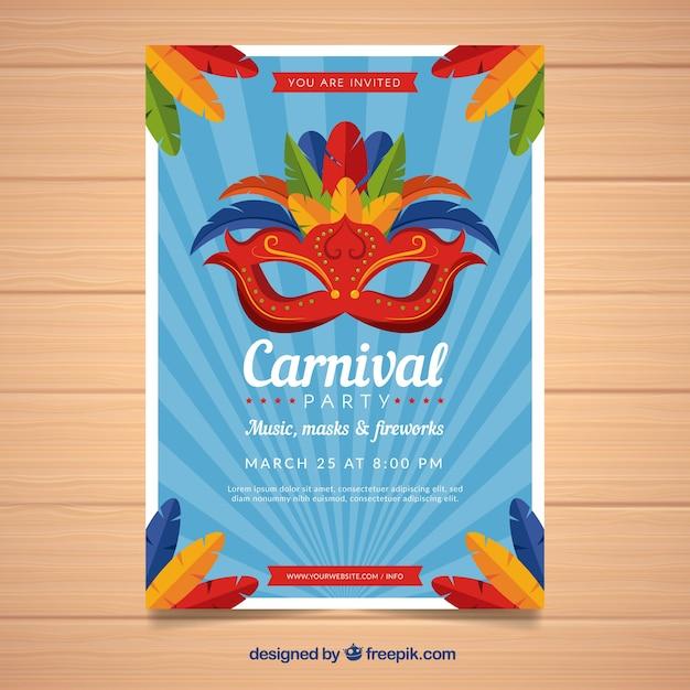 Blue carnival flyer | Baixar vetores grátis