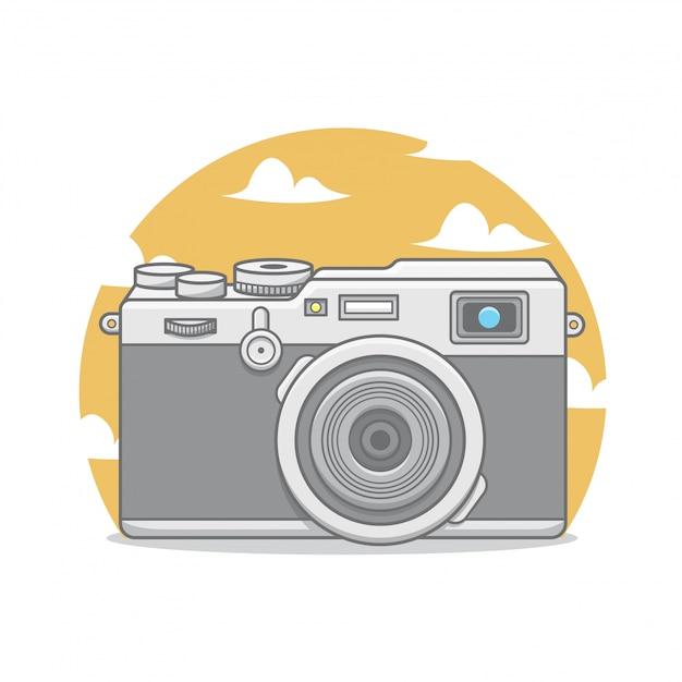 Boa câmera para tirar fotos Vetor Premium